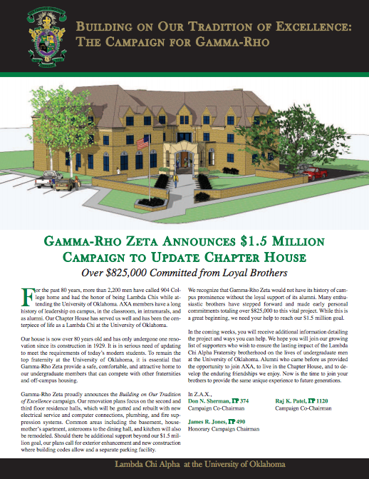 Fall 2011 Gamma Rhover Newsletter Cover